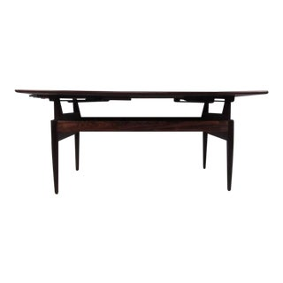 Vintage Rosewood Adjustable Coffee Table For Sale