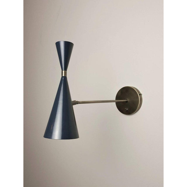 Italian Modern Wall-Mount Reading Lamps Sconces in Bronze & Enamel by  Studio Machina for - Italian Modern Wall-Mount Reading Lamps Sconces In Bronze & Enamel