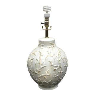 Cream White Coral Ceramic Lamp