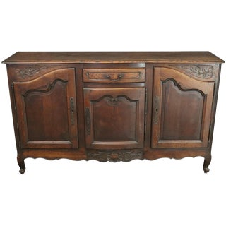 Vintage French Sideboard Louis XV Rococo 1930 Oak For Sale