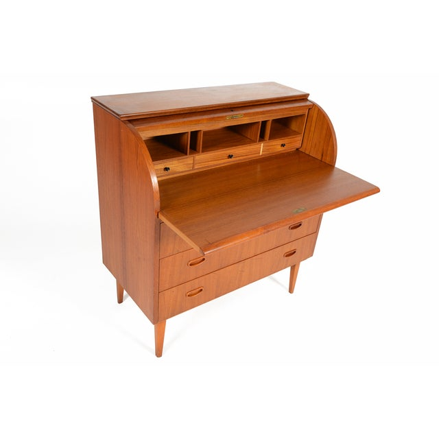 Egon Ostergaard Swedish Modern Teak Secretary Desk - Image 3 of 7