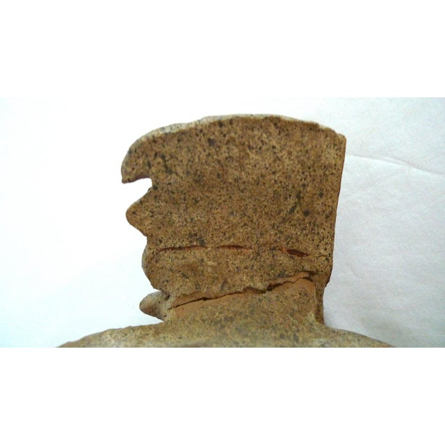 Ceramic Mayan Pre-Columbian Feathered Headdress Bust, 5th to 7th Century Ce For Sale - Image 7 of 8