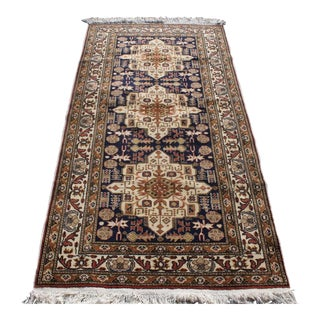 1990s Vintage Turkish Kayseri Runner Rug - 3′3″ × 6′7″ For Sale