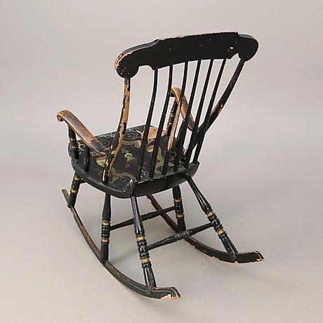 Mid-Century Modern Swedish Antique Rocking Chair For Sale - Image 3 of 5