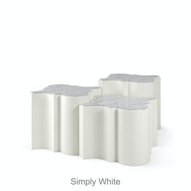 Sofia Nesting Tables, Set of 3 - Simply White For Sale - Image 4 of 6