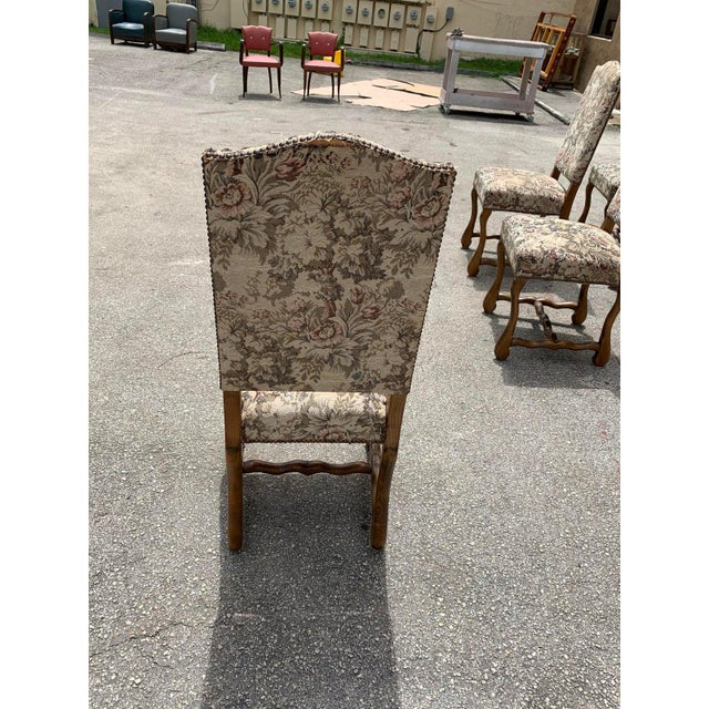 1900s Vintage French Louis XIII Style Os De Mouton Dining Chairs- Set of 10 For Sale - Image 12 of 13