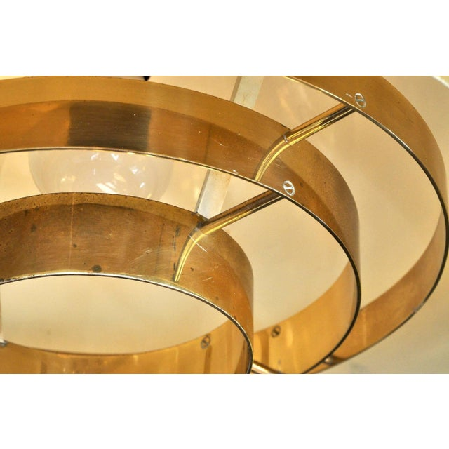 Brass Pendant Lamp by Vereinigte Werkstatten Munchen, 1960s For Sale - Image 9 of 10