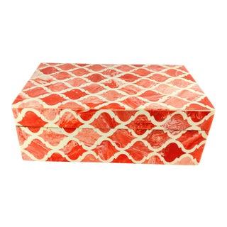 Moroccan Boho Handmade Decorative Box For Sale