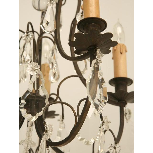 French Vintage Five-Light Bronze Chandelier For Sale - Image 9 of 10