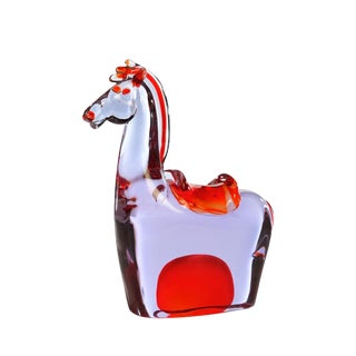 1970s Vintage Antonio Da Ros for Cenedese Murano Glass Horse For Sale