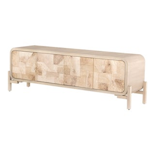 Erdos + Ko Home Wilson Bleached Burl Media Console For Sale