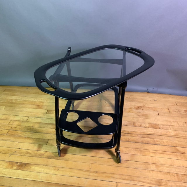 Ico Parisi 1955 Ebonized Mahogany Bar Cart, Italy For Sale In New York - Image 6 of 11