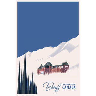 2019 Contemporary Travel Poster - Pascal Blanchet - Banff For Sale