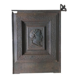 Napoleon III Cast Iron Fireplace Cover For Sale