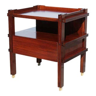 Pair of Italian Rosewood Bedside Tables For Sale