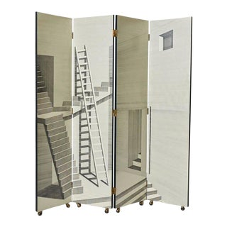 Scaletta Folding Screen by Piero Fornasetti For Sale