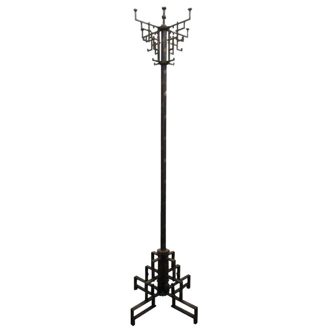 Coppered Steel Coat Tree Stand For Sale