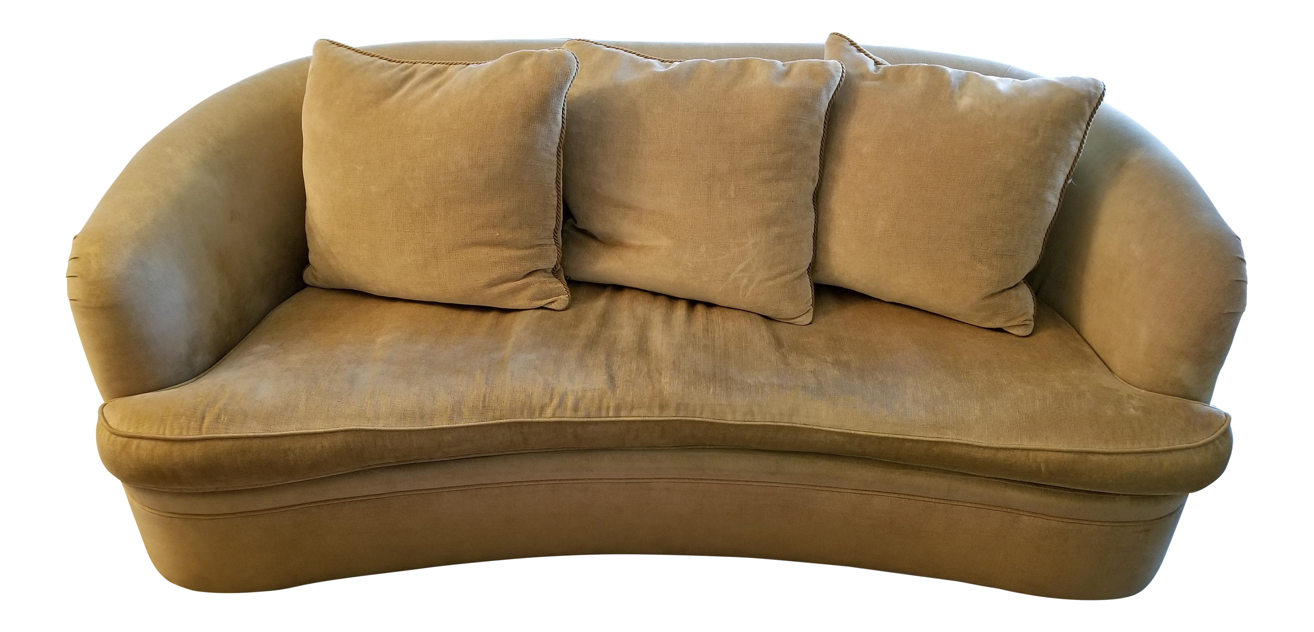 Century Furniture Curved Gold Sofa