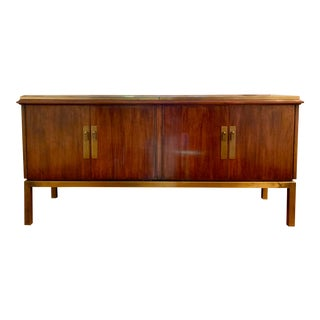 Mid Century Modern Style Mahogany Console For Sale