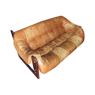 Percival Lafer Two-Seat Leather Sofa