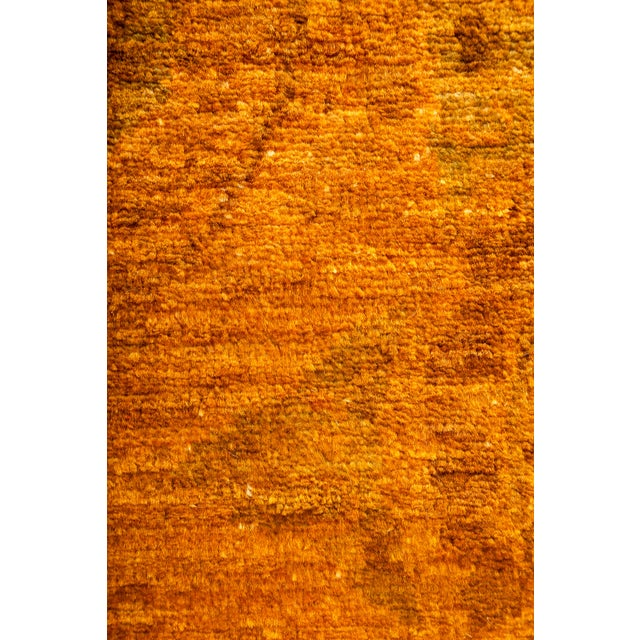 New Marigold Overdyed Hand-Knotted Rug - Image 3 of 3