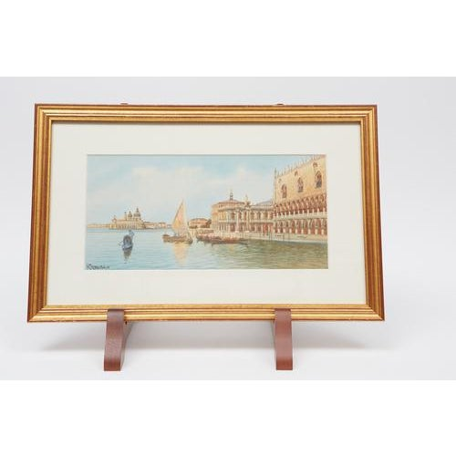 Italian Watercolors of Venice - A Pair For Sale - Image 3 of 4