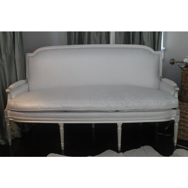 Louis XVI Style Early 19th Century Settee For Sale - Image 11 of 11