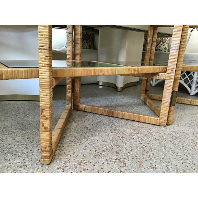 Bielecky Brothers Rattan Arch Top Etagere For Sale - Image 11 of 12