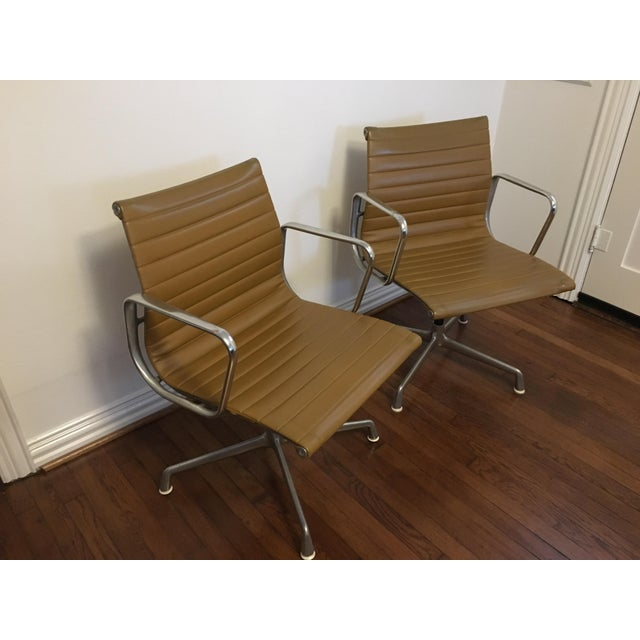 Eames Style Gold Office Chairs - A Pair - Image 7 of 7