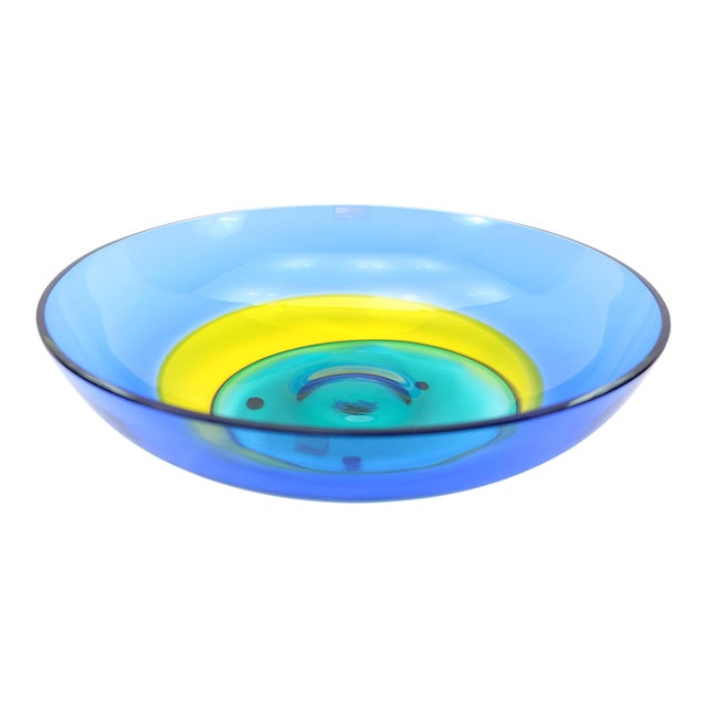 Italian Multicolor Murano Glass Bowl by Barbini For Sale