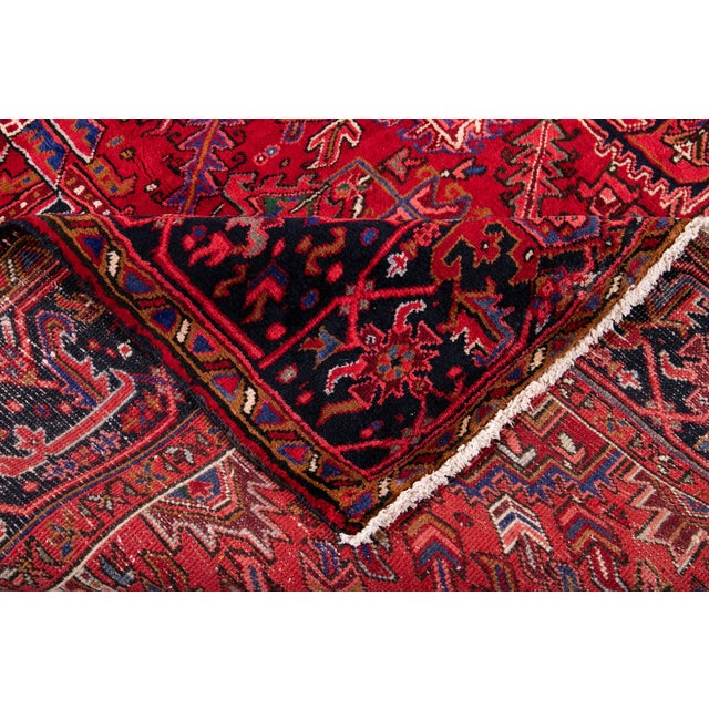 "Vintage Persian Heriz Rug, 10'2"" X 12'10"" For Sale - Image 4 of 12"
