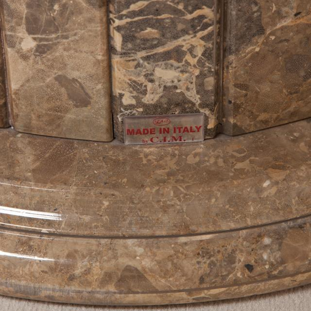 A Large Italian Circular Marble Centre Table 1980s For Sale - Image 6 of 7