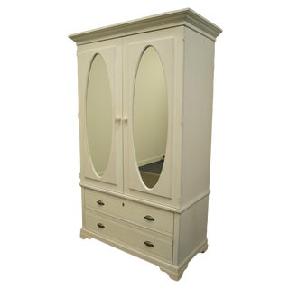 Lane Furniture Altavista Va White Painted Media Television Armoire For Sale