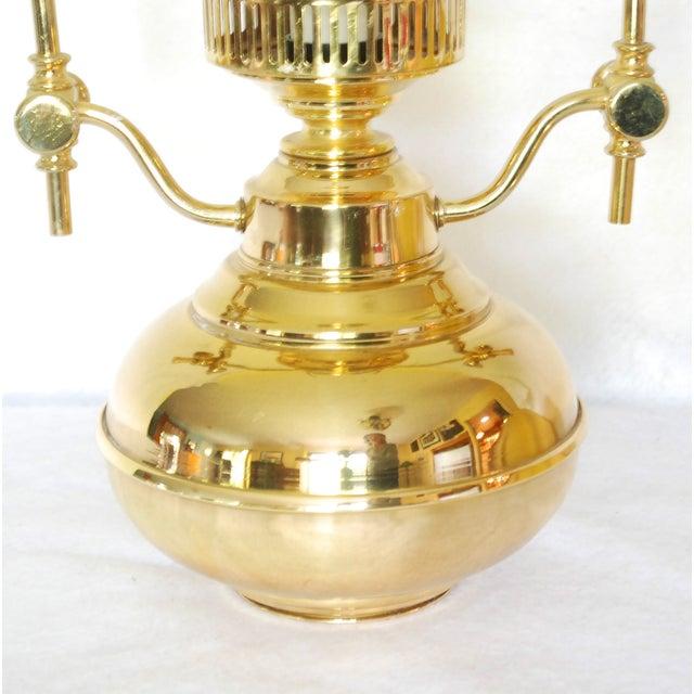 Vintage Polished Brass Pendant Lamp - Image 4 of 6