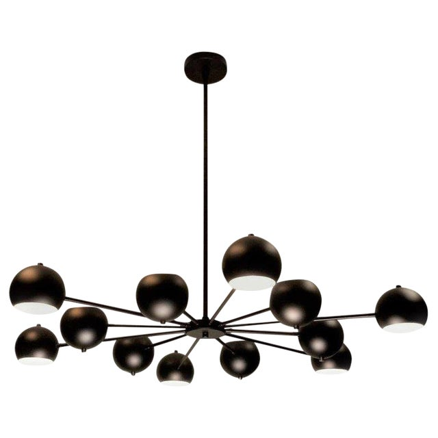 Modern Supernova Chandelier in Oil-Rubbed Bronze by Blueprint Lighting For Sale