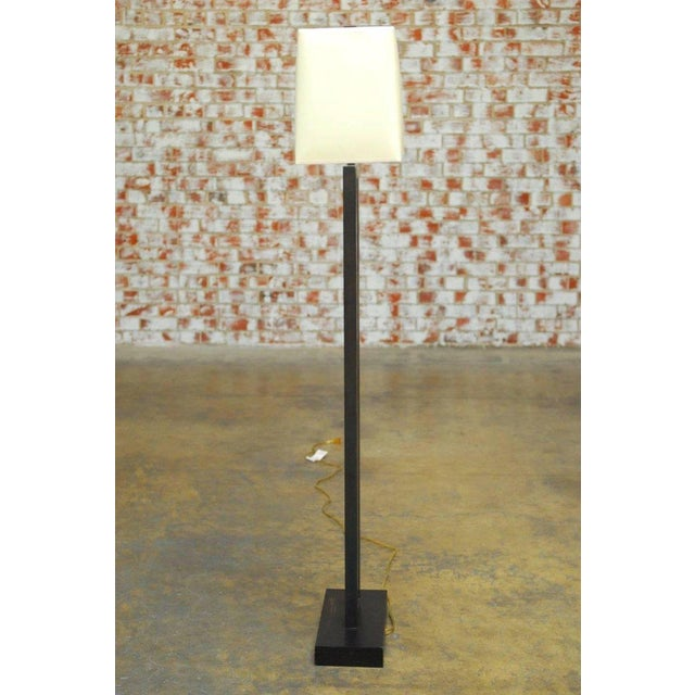 Modern Bronze Doughnut Floor Lamp by Robert Abbey - Image 6 of 9