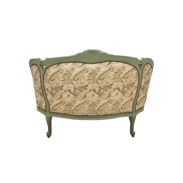 French Rococo Style Settee For Sale - Image 4 of 9