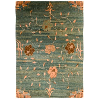 Carini Contemporary Floral Area Rug Wool - 10′ × 14′ For Sale