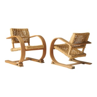 Rope Chairs by Audoux-Minet