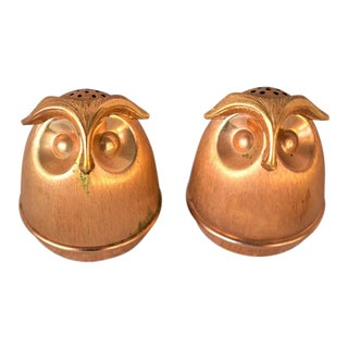 Vintage Napier Owl Salt and Pepper Shakers - a Pair For Sale