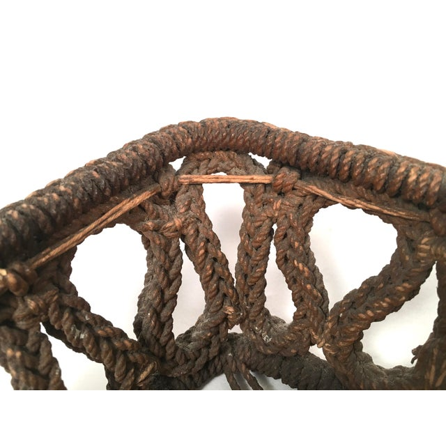 19th Century Sailor Made Ropework Basket For Sale In Boston - Image 6 of 10
