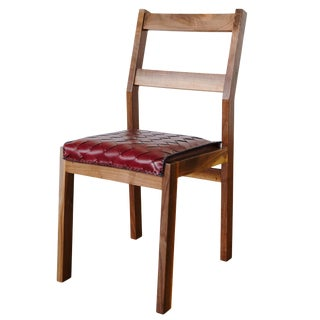 Sluyters Walnut and Braided Leather Dining Chair For Sale