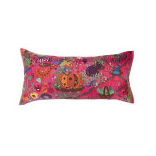 """Le Potager"" Hermès Silk Scarf Pillow For Sale"
