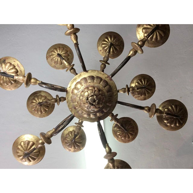 Italian 19th Century Carved Wooden Fragments Chandelier With 12 Arms For Sale - Image 12 of 13