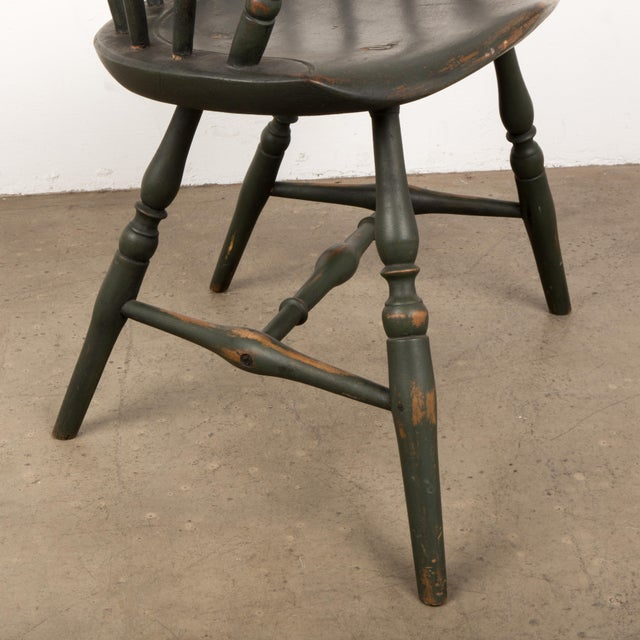 18th Century Antique Windsor Chair With Extended Arms For Sale - Image 11 of 13