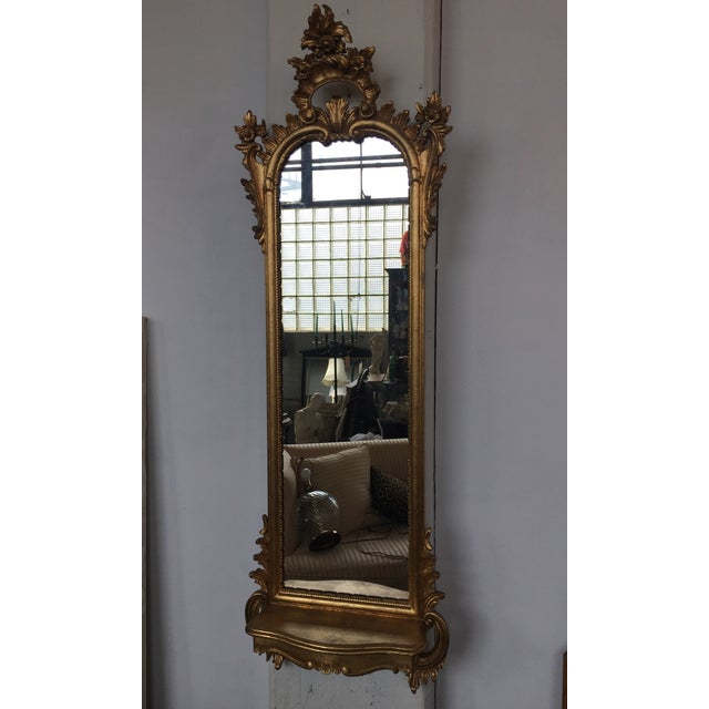 Italian Rococo Gilt Tall Mirror by La Barge - Image 3 of 10