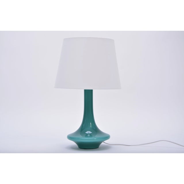 1960s Vintage Green Glass Table Lamp by Le Klint, 1960s For Sale - Image 5 of 5
