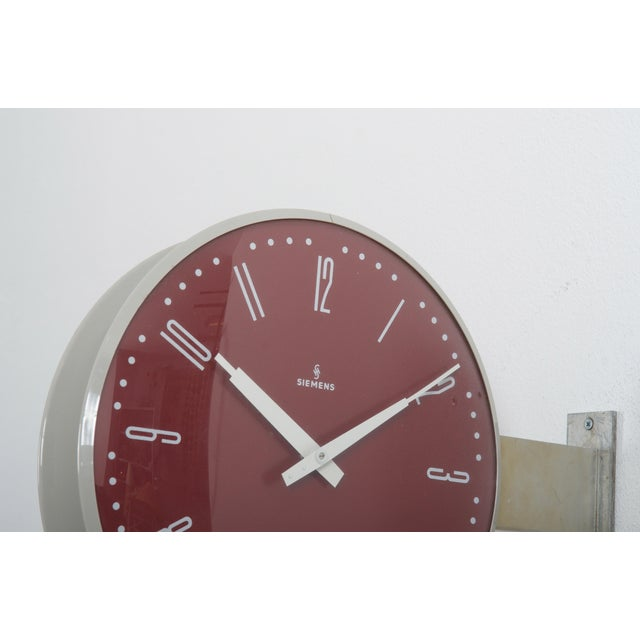 Industrial Siemens Halske Double Faced Train Station, Wokshop, Factory Clock For Sale - Image 3 of 10