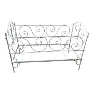 Antique French Wrought Iron Crib and Childs Day Bed For Sale