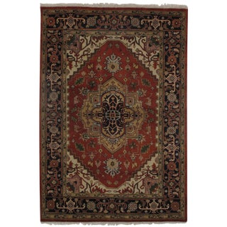"Pasargad N Y Serapi Design Hand-Knotted Rug - 6'1"" X 8'10"" For Sale"